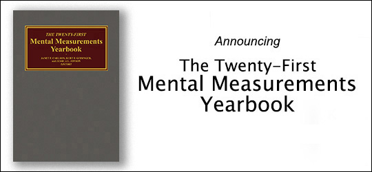 Photo of Twenty-First Mental Measurements Yearbook
