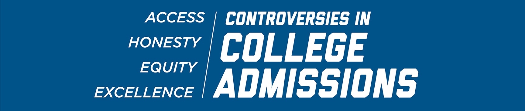 Controversies in College Admissions logo