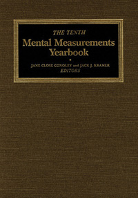 The Tenth Mental Measurements Yearbook