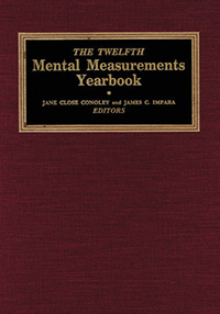 The Twelfth Mental Measurements Yearbook