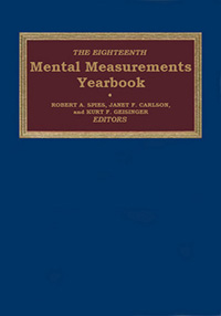 The Eighteenth Mental Measurements Yearbook