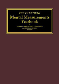 Mental Measurement Yearbook 20th Edition Cover